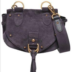 See by Chloe purple suede mini cross body bag